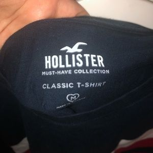hollister top blue with stripes